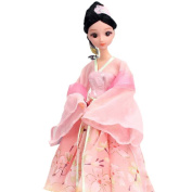 Summer Fairy Doll Dress Doll Gorgeous China Doll Ball-Jointed Doll For Girls