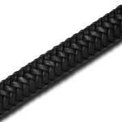 REAMOR 12x6mm Black Wide Super Fibre PU Braided Leather Cord For Jewellery Making Findings Craft Accessories