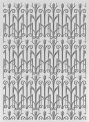 Ultimate Crafts The Ritz Embossing Folder 13cm x 18cm -Rose Trellis
