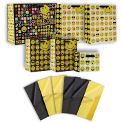 Jillson Roberts 6-Count Emoji All-Occasion Gift Bags in Assorted Sizes and Designs with Tissue