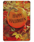 American Greetings Pumpkin Halloween Card with Embossing, 6-Count, Assorted