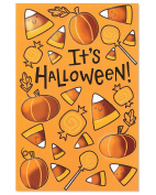 American Greetings Candy Corn Halloween Card with Glitter, 6-Count, Assorted