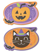 American Greetings Smiles Halloween Card with Glitter, 6-Count, Assorted