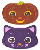 American Greetings Pumpkin Halloween Card with Glitter, 6-count, Assorted