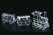 StealStreet SS-CQG-95013 Clear Large Crystal Locomotive with Two Cabs Train Set Figurine
