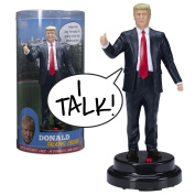 Donald Trump Talking Figure - Says 17 Different Audio Lines In President Trump's Own Voice - Loaded with his Most Funny & Memorable Quotes - Beautifully Sculpted - Incl. Batteries - Collectible Gift