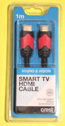 Crest Smart TV HDMI Cable 1M 3D ready 4K UltraHD 2160p 18Gbps Ethernet Dolby ARC