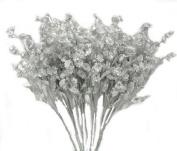 12 Silver Baby'S Breath Spray Silk Wedding Flowers Gypsophila Centrepieces