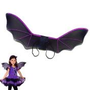 MEIQING Vampire Bat Plush Costume Bat Wings Costume For Halloween