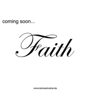 2 x Faith Tattoo lettering in black - temporary Tattoo