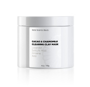 HD Beauty Cacao & Chamomile Clearing Clay Mask with Salicylic Acid + Sulphur for Acne and Calendula + Lavender for Soothing, 120ml