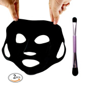 colour CLEANER Silicone Mask Reusable Silicon Mask Moisturising Reused / Facial Mask Brush Purple Mask Applicator for Peel Serum Clay Mask