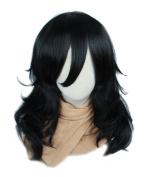 ROLECOS Shota Aizawa Cosplay Wigs Mens Long Wavy Synthetic Hair Wigs Black