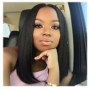 36cm Black Bob Wig Short straight Heat Resistant Synthetic Black Hair Wig for Black Women