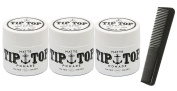 Tip Top Matte Water Based Medium Hold Pomade 130ml Pack of 3