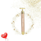 MLM Slimming Face 24k Gold Vibration Facial Beauty Roller Massager Stick Lift Skin Tightening Wrinkle Stick Bar Face Skin Care