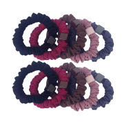 10pcs Soft Five Colours Solid Stretch No-damage Ponytail Holders Elastics Hair Ties-SYSP002