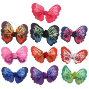 Redriver 10pcs Baby Hair Clip Toddler 3D Butterfly Hairpin Hair Accessories
