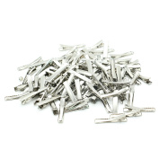 HUELE 100 PCS Silver Alligator Hair Clip Flat Top with Teeth