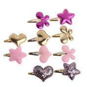 Redriver 10PCS Baby Girls Hairpin Butterfly Hearts Stars BB Hair Clip Hair Accessories