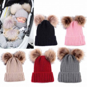 FEITONG Newborn Cute Fashion Keep Warm Winter Hats Knitted Wool Hemming Hat