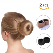 2 Pcs Bun Hair Maker,Hair Bun Shapers Hair Styling Dount Maker, Beauty Crown Magic Hair Styling Tool Hair Accessories for Women Girls DIY Hairstyle.