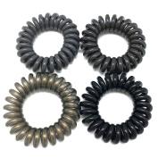 SwirlyDo No Slip Hair Ties, Neutral C (small, 4 pieces) by Pree Cosmetics