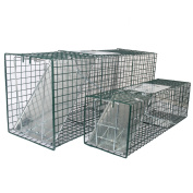 MLG Tools 2-Pack Humane Live Animal Trap 80cm & 60cm Catch Release Cage for Large Nuisance Rodents Control Raccoon Mole Gopher Opossum Skunk Squirrel Feral Stray Cats Wild Rabbits