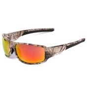 MOTELAN Polarised Camouflage Sports Sunglasses for Men's Fishing Hunting Boating Sun Glasses