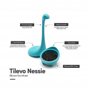 Tilevo Tea Infuser Set of 2 - The Nessie Loose Leaf Tea Infusers with Long Handle Neck & Cute Ball Body Loch Ness Monster Silicone Tea Strainer & Steeper with Gift Box