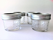 Mason Ball Jelly Jars-120ml each - Quilted Crystal Style-Set of 4