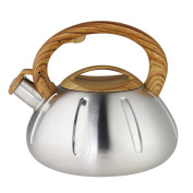 Riwendell Stainless Steel Whistling Tea Kettle 2.5l Stove Top Kettle Teapot