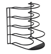 Pan Organiser Rack - Kitchen Closet Storage for Pots, Pans and Lids - Holds Up to 8 Items - Easy Screw or Adhesive Installation - by Bovado USA