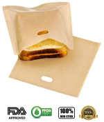 FULLBON 3 x Pack,Non Stick Toaster Bags,Reusable and Heat Resistant.