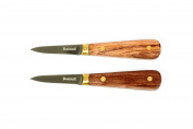 Boldall Oyster Knife - Set of 2 Rosewood Handle Shucking Knives