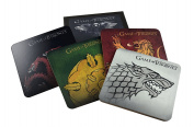 Game of Thrones Cork-Back Coaster Set Stark/Targaryen/Lannister/Tyrell, Multicoloured