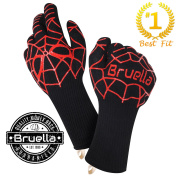 Bruella Heat Resistant BBQ Gloves | FormFIT Technology - #1 Best Fitting Oven Mitts on Amazon! Perfect For Grilling, Baking, and Kitchen | A+ Military Grade Kevlar | EN 407 Certified at over 900°F
