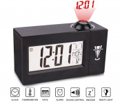 Projection Alarm Clock,SpeedV Alarm Clock Wake up Clock Digital for Adults,Kids & Teens Glowing Repeating Snooze Function & Temperature Display LED Alarm Clocks for Bedrooms and Office Desk