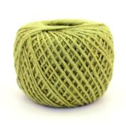 BambooMN Brand - 75 Yard, 2mm Crafty Jute Twine String - Hemp Jute - 3x Yellow Green