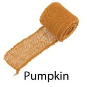 BambooMN Brand - 7.6cm Inch wide Burlap Fabric Craft Ribbon - 10 Yards - Hemp Jute -Pumpkin x 3