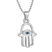 Onairmall Filigree Charm Hamsa Hand of Fatima Lucky/Evil Eye Protection Amulet Pendant Necklace