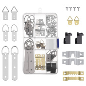 Shappy 68 Pieces Picture Hanger Kit, Assorted Picture Frame Hangers Hooks Holder for Home Office Photos Hanging