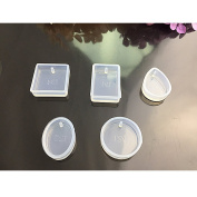 5Pcs Jewellery Casting Mould Designs silicone Mould with Hanging Hole for Resin Jewellery Making DIY Craft