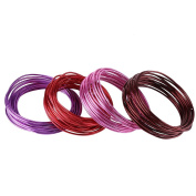 Aluminium Craft Wire, 20 Metres Colourful Round Soft Tarnish Resistant Oxidation Copper Wire Wire DIY Accessories for Jewely Beading Floral Crafts Making
