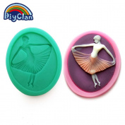 Silicone moulds cake decorating dancer style chocolate soap fondant mould sugar craft mould cake decoration tools kitchen F0307TW35
