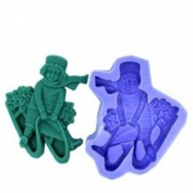 Diyclan silicone moulds for cake pudding jelly dessert mould skiing boy handmade soap mould chocolate mould F0248HX35