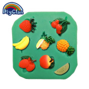 Diyclan arrival fruit strawberry silicone fondant cake moulds chocolate soap mould cake tools for the kitchen baking F0196SG30