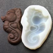 Diyclanclan Silicone moulds for cake pudding jelly mould hippocampus style chocolate soap mould F0212HM35