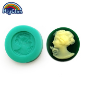 Diyclanclan Diyclan silicone moulds for cake decorating fondant mould mini woman style sugar craft chocolate mould F0195TX35