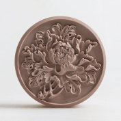 Grainrain Craft Peony Flower Food Grade Silicone Soap Mould Round Candle Resin Wax Mould